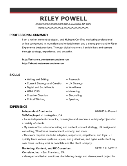 riley powell - Social Media Specialist Resume