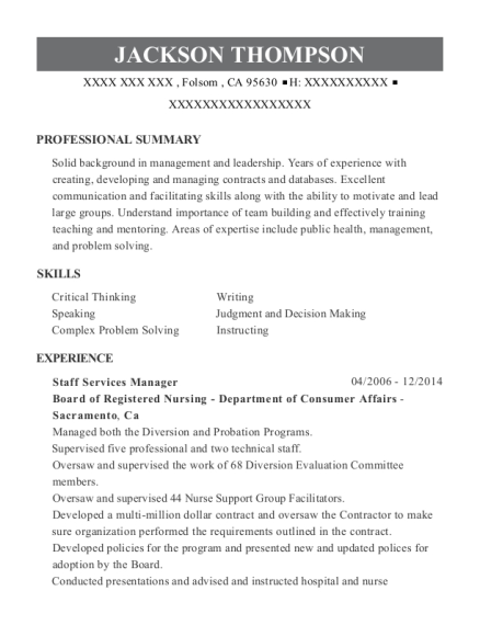 best associate governmental program analyst resumes resumehelp