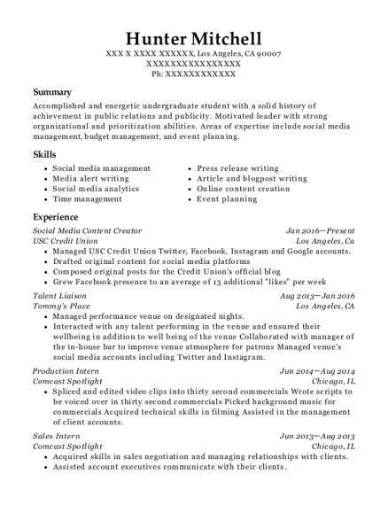 Best Social Media Content Creator Resumes Resumehelp