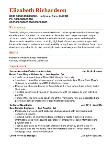 Best Client Portfolio Manager Resumes | ResumeHelp