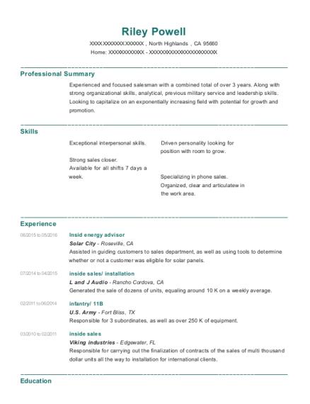 Best Insid Energy Advisor Resumes | ResumeHelp