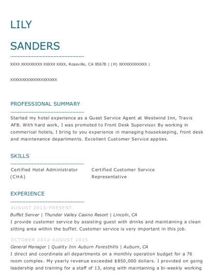 Best Hotel Operations Manager Resumes | ResumeHelp