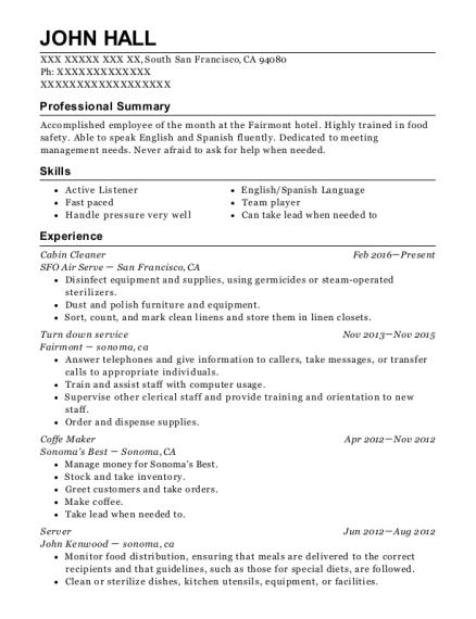 Best Turn Down Service Resumes | ResumeHelp