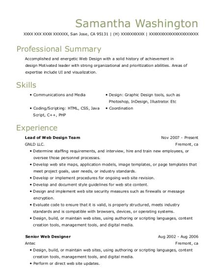 best senior web designer resumes resumehelp