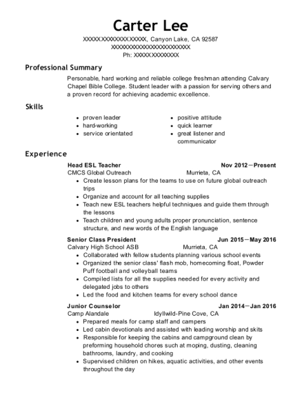 Best Senior Class President Resumes | ResumeHelp