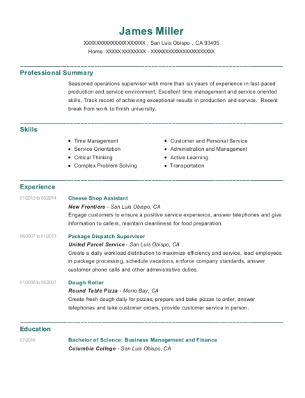 Package Dispatch Supervisor , Team Member. Customize Resume · View Resume