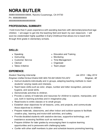 Best Student Teaching Internship Resumes Resumehelp - Student-teaching-resume
