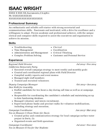 Best Deputy Campaign Manager Resumes | ResumeHelp