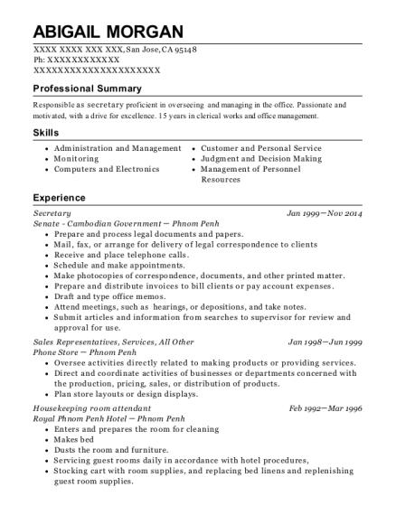best housekeeping room attendant resumes resumehelp