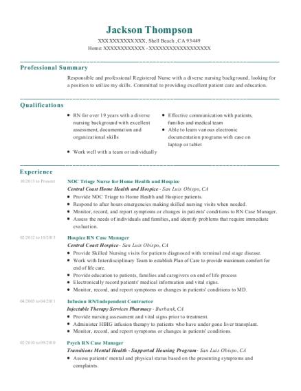 Best Psych Rn Case Manager Resumes | ResumeHelp