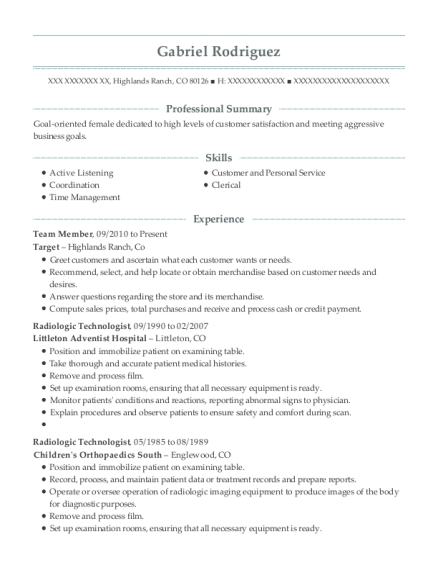 kfc team member resume sample