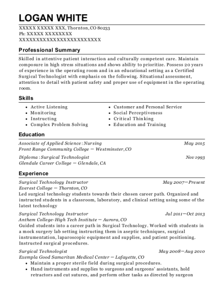 best sterile processing technician resumes