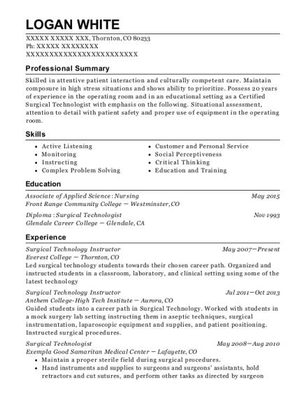 Best Sterile Processing Technician Resumes Resumehelp
