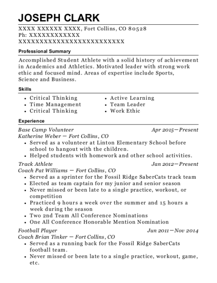 best football player resumes resumehelp