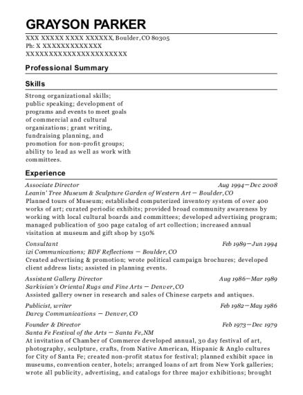 Gray & Company Publicist Resume Sample - Tucson Arizona | ResumeHelp