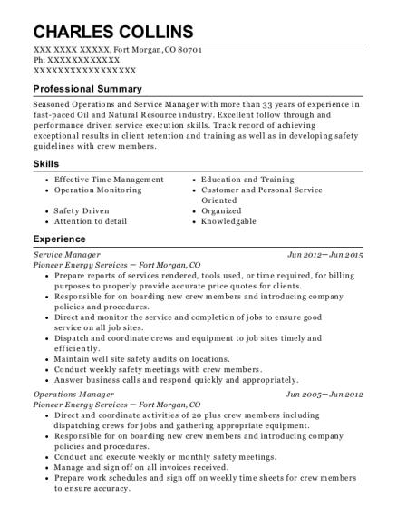 Best General Operator Resumes | ResumeHelp
