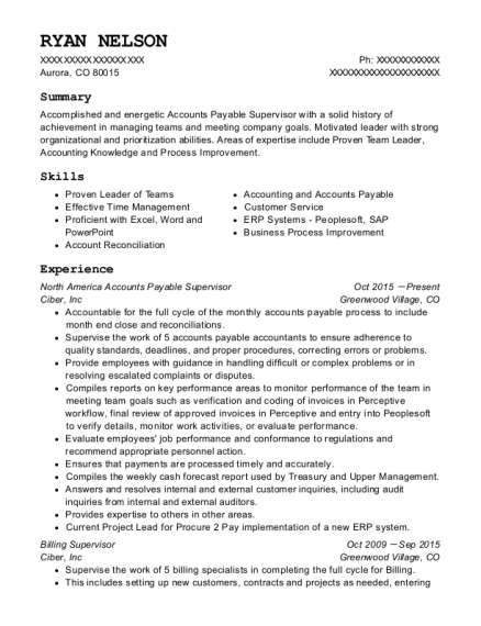 ryan nelson - Billing Specialist Resume