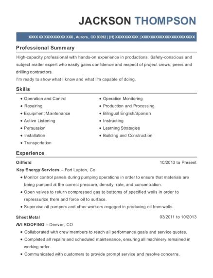 Best Oilfield Resumes | ResumeHelp