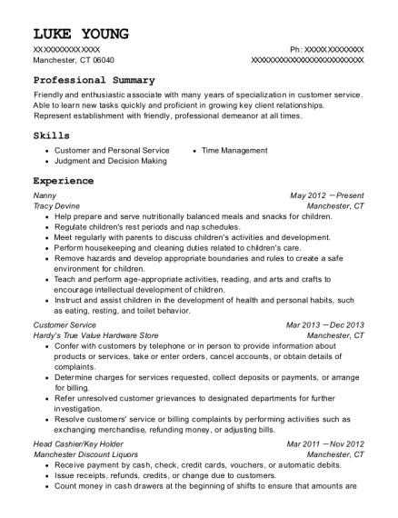 laura esser nanny resume sample