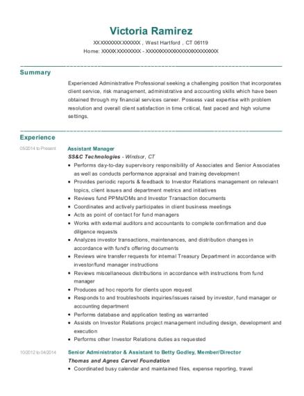 victoria ramirez - Mutual Fund Accountant
