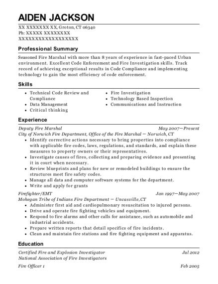 best deputy fire marshal resumes resumehelp
