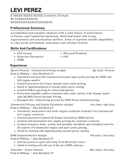 best spares finance commercial pricing analyst resumes resumehelp