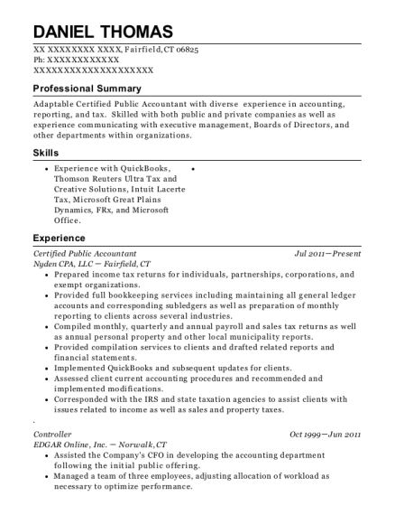 Best Certified Public Accountant Resumes