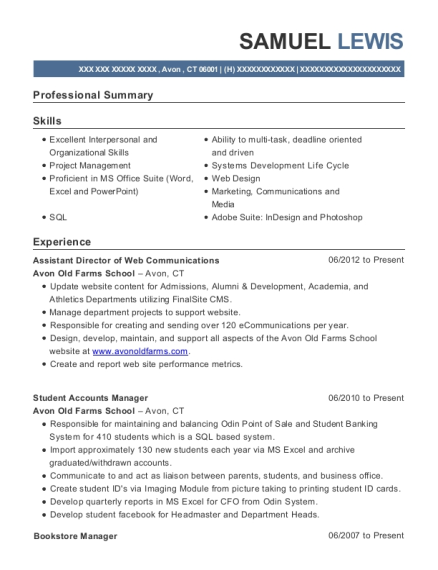 Awesome Bookstore Manager Resume Gallery - Best Resume Examples and ...