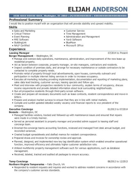 best leasing manager resumes resumehelp