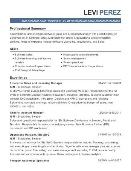Best Enterprise Sales And Licensing Manager Resumes | ResumeHelp