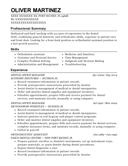 Best dental office manager resumes resumehelp view resume dental office manager thecheapjerseys Image collections