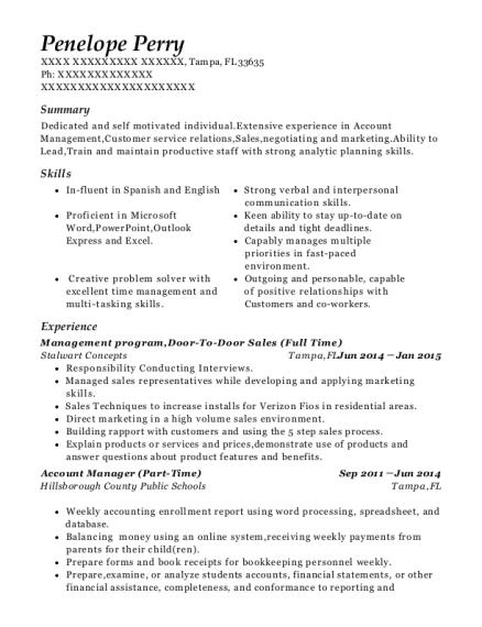 Door To Door Sales Resume Sample | Best Door To Door Sales Resumes Resumehelp