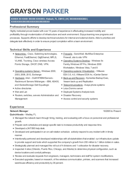 At&t Network Manager Resume Sample - Chamblee Georgia | ResumeHelp