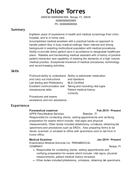 Best Certified Nursing Assistant Resumes In Tampa Florida Resumehelp