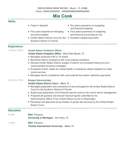 united states resume