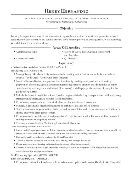 Administrative Assistant Senior , Tax Processing Specialist. Customize  Resume · View Resume