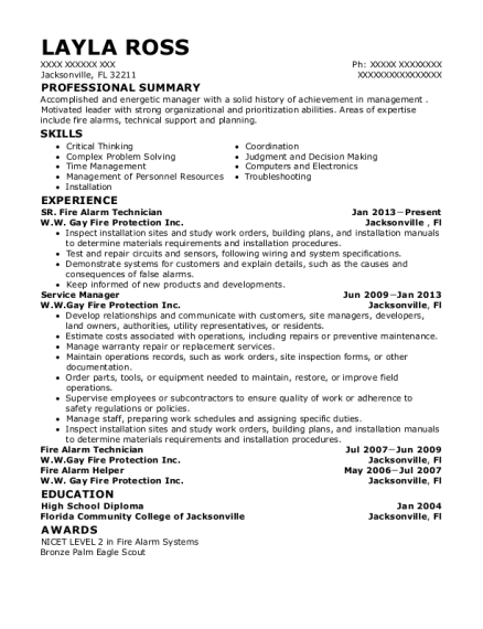 City Carrier Assistant , Fire Alarm Technician. Customize Resume · View  Resume