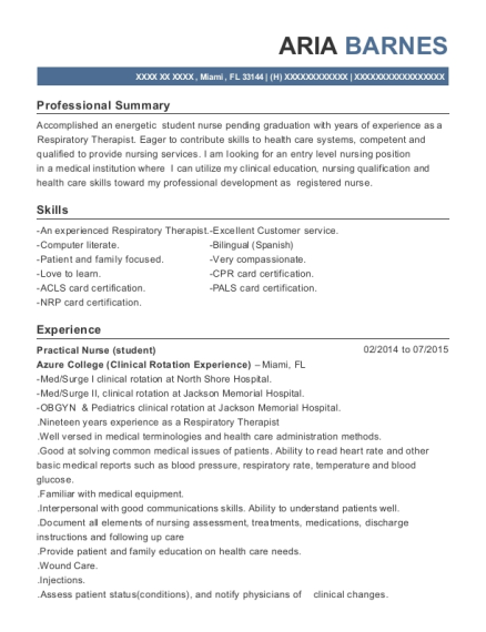 Respiratory Care Practitioner , Sales Manager. Customize Resume · View  Resume
