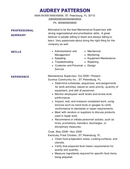 audrey patterson - Sterile Processing Technician Resume