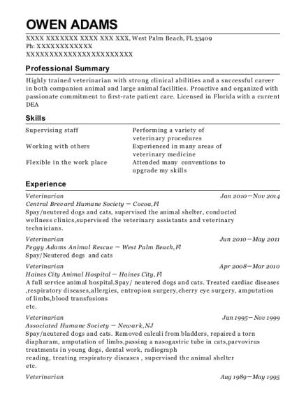 banfield pet hospital veterinarian part time resume sample phoenix