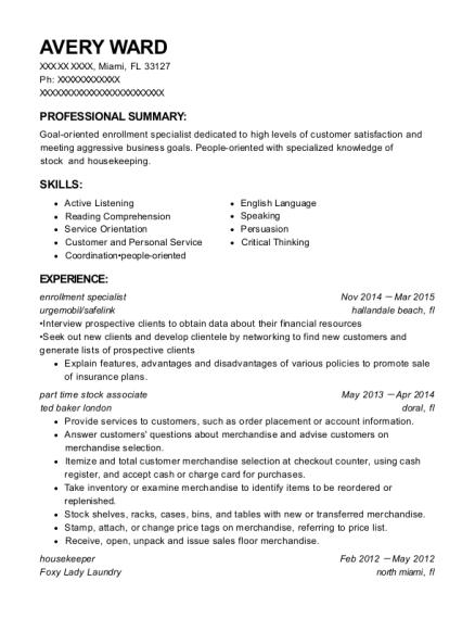 best enrollment specialist resumes resumehelp
