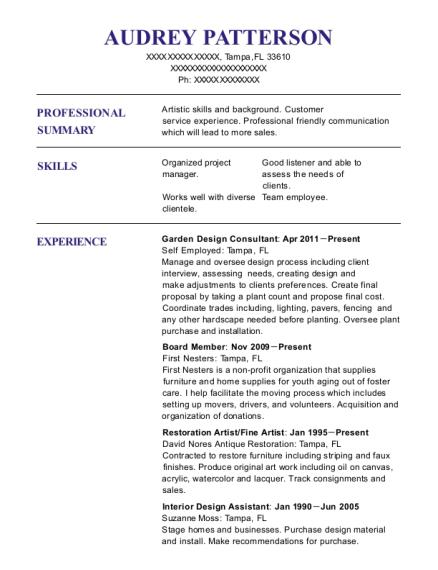 Interior Design Assistant Resume Under Fontanacountryinn Com