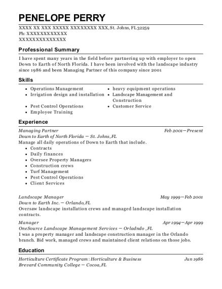 Best Landscape Manager Resumes | ResumeHelp