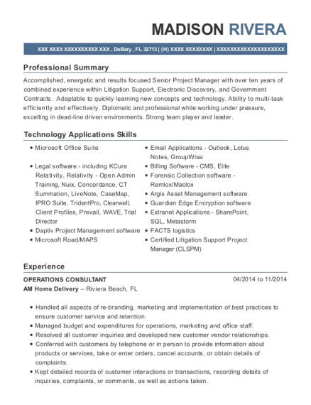 digital project manager resume