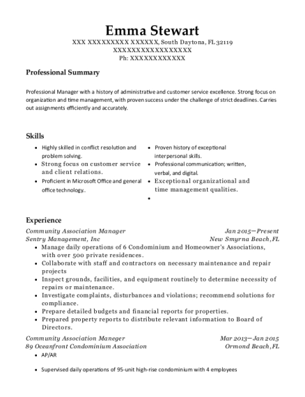 Emma Stewart  Community Manager Resume