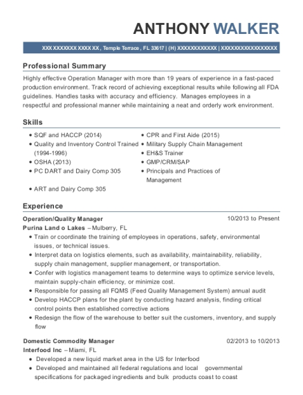 Awesome Commodity Manager Resume Photos - Best Resume Examples and ...