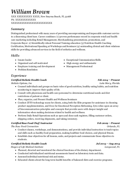Best Health Coach Resumes