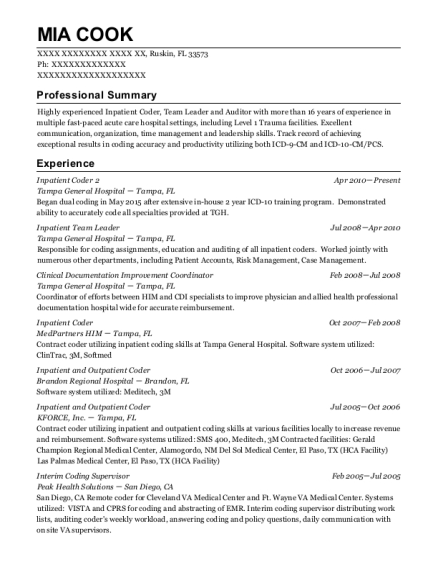 Best Contract Coder And Coding Manager Resumes   ResumeHelp