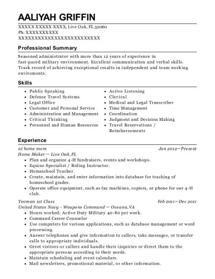 yeoman resume