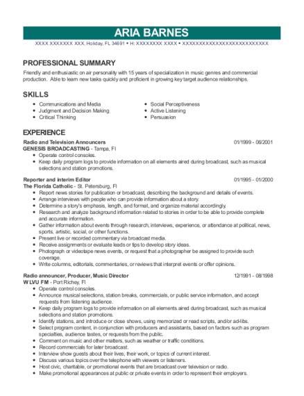 Best Emcee Resumes | ResumeHelp
